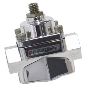 "<strong>Billet 2-Port Fuel Pressure Regulator with 3/8"" NPT ORB Ports </strong><br /> Polished Finish. 4.5-9 psi Adjustable"