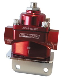 <strong>Billet Bypass 2-Port Fuel Pressure Regulator with 3/8&quot; NPT Ports</strong><br />Red Finish. 4.5-9 psi Adjustable