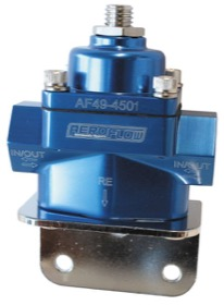 <strong>Billet Bypass 2-Port Fuel Pressure Regulator with -8 ORB Ports</strong><br />Blue Finish. 4.5-9 psi Adjustable