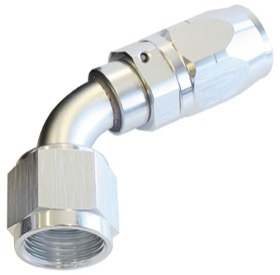 <strong>500 Series Cutter Swivel 60° Hose End -6AN </strong><br />Silver Finish. Suits 100 & 450 Series Hose
