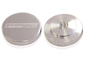 <strong>Polished Billet Air Cleaner Nut</strong><br />Low profile perfect for tight clearance applications, 1/4&quot; UNC