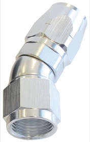 <strong>550 Series Cutter One-Piece Full Flow Swivel 30° Hose End -4AN</strong> <br />Silver Finish. Suits 100 & 450 Series Hose