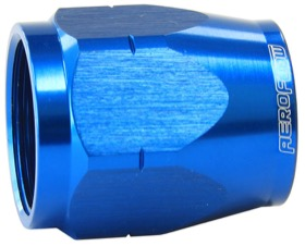 <strong>Alloy Cutter Style Hose End Socket -6AN</strong> <br />Blue Finish. Suit 500 & 550 Series Fittings Only