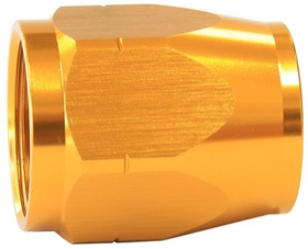 <strong>Alloy Cutter Style Hose End Socket -6AN</strong> <br />Gold Finish. Suit 500 & 550 Series Fittings Only