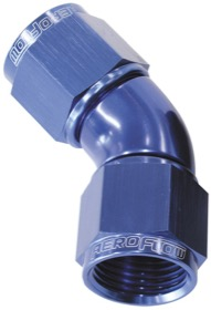 <strong>45° Full Flow Female Coupler -4AN</strong> <br />Blue Finish