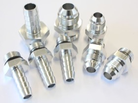 <strong>Replacement Surge Tank Fittings in Silver Finish </strong><br />-6 ORB to -6AN x 3, -8 ORB to -8AN, -6 ORB to 3/8