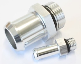 <strong>Replacement Fittings for VX/VY Commodore Radiator Overflow Tanks</strong><br /> Suit AF77-1024, Silver Finish