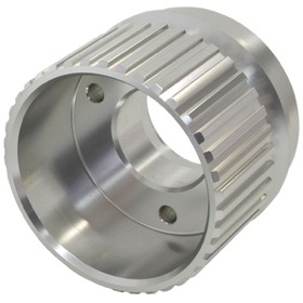 <strong>Gilmer Drive Crankshaft Pulley - Silver Finish</strong><br /> Suit SB & BB Chevy with Long Water Pump