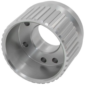 <strong>Gilmer Drive Crankshaft Pulley - Silver Finish</strong><br /> Suit Ford Windsor & Cleveland