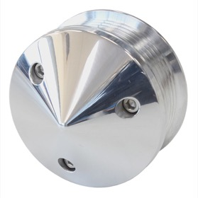 <strong>Replacement LS Tensioner Pulley</strong> <br />Polished With Nose Cover &amp; Bolts