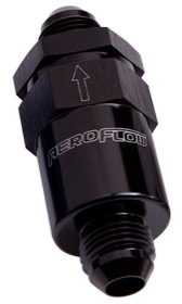 "<strong>30 Micron Billet Fuel Filter -6AN</strong><br /> Black Finish. 2"" Length"