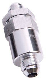 <strong>30 Micron Billet Fuel Filter -6AN</strong><br /> Silver Finish. 2&quot; Length