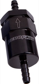 <strong>30 Micron Billet Fuel Filter 1/2&quot; Barb</strong> <br />Black Finish. 2&quot; Length