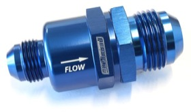 <strong>One Way Stepped Check Valve</strong><br />-12AN to -8AN, Blue Finish