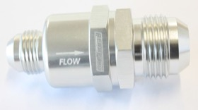 <strong>One Way Stepped Check Valve</strong><br />-12AN to -8AN, Silver Finish