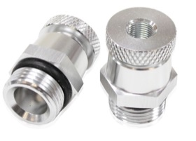 "<strong>Universal Drain Valve -10 ORB</strong><br />Silver Finish With 1/8"" NPT Female Thread For Remote Draining"