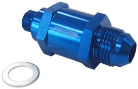 <strong>EFI Fuel Pump Check Valve -8AN (M12 x 1.5mm) </strong><br /> Blue Finish