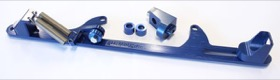 <strong>Billet Throttle Cable Bracket 4500 Dominator Style </strong><br />Blue Finish