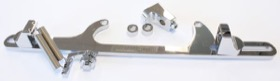 <strong>Billet Throttle Cable Bracket 4500 Dominator Style </strong><br />Chrome Finish