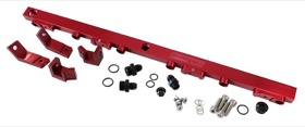 <strong>Billet EFI Fuel Rails (Red)</strong><br /> Suit Ford BA-BF 4.0L DOHC 6 Cyl.