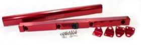 <strong>Billet EFI Fuel Rails (Red)</strong><br /> Suit Chevy/Holden LS1