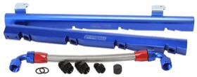 <strong>Billet EFI Fuel Rails (Blue)</strong><br /> Suit Holden 304-355 EFI V8