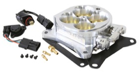 <strong>Billet 4 Barrel 1375cfm Throttle Body</strong> <br /> Aluminium Finish. Suit 4150/4500 Flanges