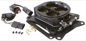 <strong>Billet 4 Barrel 1375cfm Throttle Body</strong> <br />Black Finish. Suit 4150/4500 Flanges