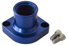 <strong>Billet Thermostat Housing - Blue</strong><br /> Suit Ford 302-351C