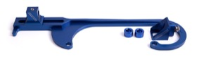 <strong>Billet Throttle Cable Bracket 4150 Style</strong> <br /> Blue Finish