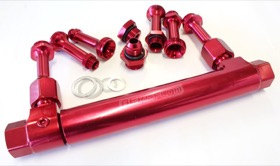 <strong>Adjustable Billet Fuel Log </strong><br />Red Finish