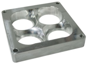 <strong>1&quot; Tapered High Velocity Carburettor Spacer </strong><br />Raw Finish. Suit 4500 Style Flange