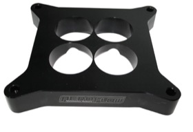 <strong>1&quot; Tapered High Velocity Carburettor Spacer </strong><br />Black Finish. Suit 4500 Style Flange