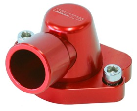 <strong>Billet Thermostat Housing - Red</strong><br /> Suit Holden V8 (Swivel. No Heater Outlet)