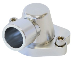 <strong>Billet Thermostat Housing - Silver</strong> <br /> Suit Holden V8 (Swivel. No Heater Outlet)