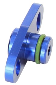 <strong>Fuel Rail Adapter (Blue) </strong><br /> Suit Mitsubishi 16mm Seal & 37-40mm Centres