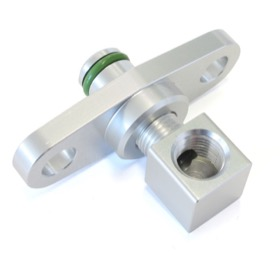 <strong>Fuel Rail Adapter (Raw)</strong><br /> Suit Mitsubishi EVO 10 with 40mm Centres