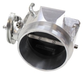 <strong>Billet 90mm Throttle Body (Aluminium Finish) </strong><br /> Suit 4 Bolt LS Manifolds