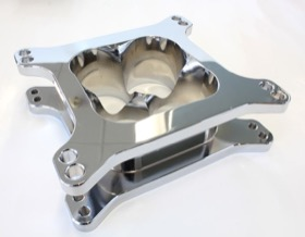"<strong>2"" Tapered High Velocity Carburettor Spacer </strong><br />Chrome Finish. Suit 4150 Style Flange"