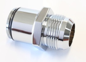 <strong>-16 AN Water Neck Adapter - Chrome</strong> <br />Suits 360° Swivel Aeroflow Water Necks