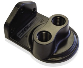 <strong>Billet Remote Oil Filter Head</strong><br />-8 ORB Top entry, Black anodised finish, accepts filter with 3/4