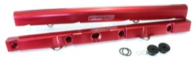 <strong>Billet EFI Fuel Rails (Red)</strong><br /> Suit Ford 5.0L EFI V8