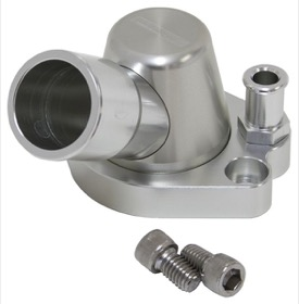 <strong>Billet Thermostat Housing - Silver</strong> <br /> Suit Holden 253-308, with optional heater outlet, Swivel