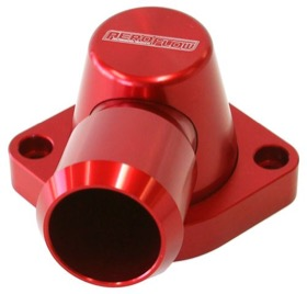 <strong>Billet Thermostat Housing - Red</strong><br /> Suit Holden/Chevy LS except LS3, Swivel