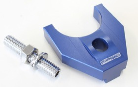 <strong>Billet Distributor Hold Down Clamp - Blue </strong><br />Suit Ford 302-351C