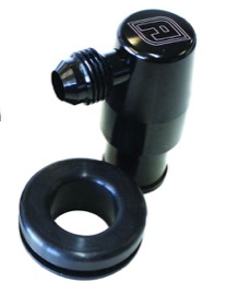 <strong>Billet PCV Valve with -6AN</strong><br />Black Finish.