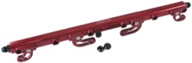 <strong>Billet EFI Fuel Rails (Red)</strong><br />Suit Ford FG 4.0L DOHC 6 Cyl.
