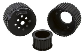 <strong>Gilmer Drive Kit (Belt not included) - Black Finish</strong> <br />Suit Chev V8 with Short Water Pump
