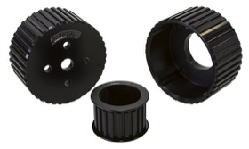 <strong>Gilmer Drive Kit (Belt not included) - Black Finish</strong> <br />Suit Holden 253-308 V8 with Large Bearing Water Pump
