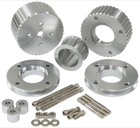 <strong>Gilmer Drive Kit (Belt not included) - Silver Finish</strong> <br />Suit Holden Commodore VN-VS with 5.0L EFI V8